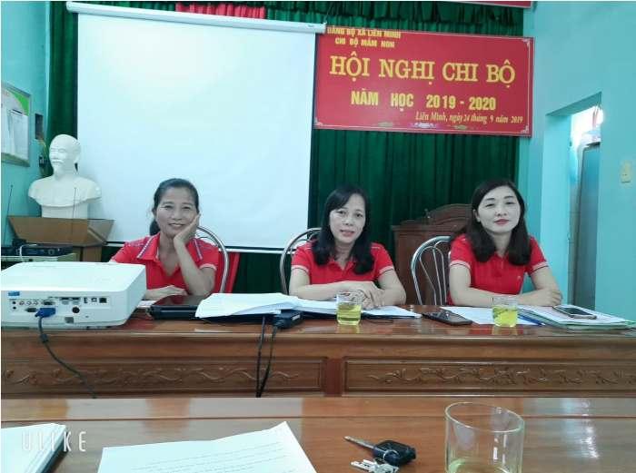 Hội nghị chi bộ trường Mầm Non Liên Minh.